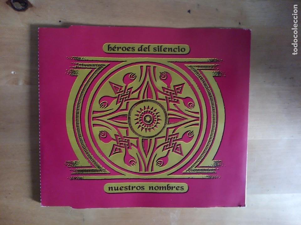 NUESTROS NOMBRES HÉROES DEL SILENCIO CD SINGLE BUNBURY EL ESPÍRITU DEL VINO (Música - CD's Rock)