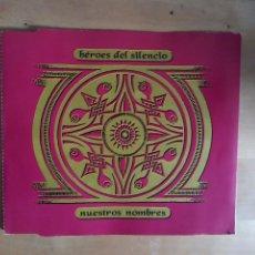 CDs de Música: NUESTROS NOMBRES HÉROES DEL SILENCIO CD SINGLE BUNBURY EL ESPÍRITU DEL VINO. Lote 245759875