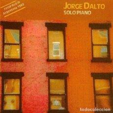 CDs de Música: JORGE DALTO - SOLO PIANO. Lote 245784295
