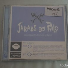 CDs de Música: CD/ JARABE DE PALO - COMPLETO INCOMPLETO - CD + DVD. Lote 245985155