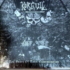 "CDs de Música: 2-CD KORGULL THE EXTERMINATOR ""TEN YEARS OF TOTAL EXTERMINATION"". Lote 246129420"
