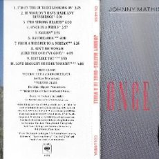 CDs de Música: JOHNNY MATHIS - ONCE IN A WHILE. Lote 246147795