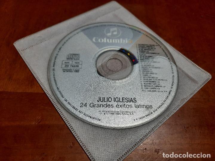 JULIO IGLESIAS. 24 GRANDES ÉXITOS LATINOS. CD EN FUNDA DE PLÁSTICO. BUEN ESTADO. COMO SE VE EN FOTO (Música - CD's Rock)