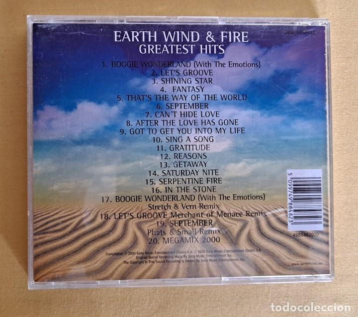 CDs de Música: EARTH WIND AND FIRE - GREATEST HITS - CD, SONY MUSIC 2000 - Foto 4 - 246196570
