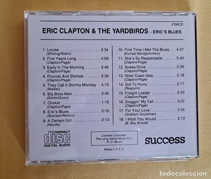 CDs de Música: ERIC CLARTON & THE YARDBIRDS - ERICS BLUES - CD, SUCCESS 1990 - Foto 4 - 246196655