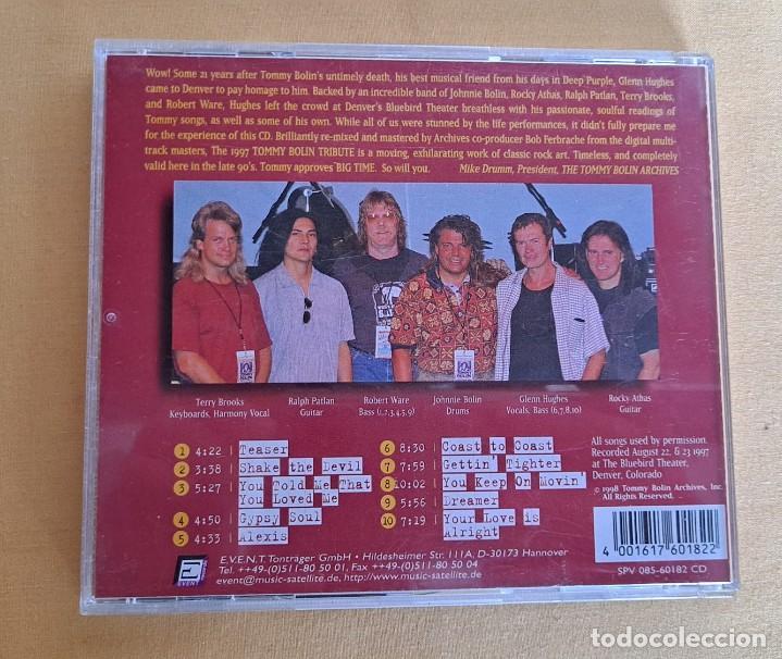 CDs de Música: GLENN HUGHES & FRIENDS - A TRIBUTE TO TOMMY BOLIN - CD, EVENT RECORDS 1999 - Foto 4 - 246197005