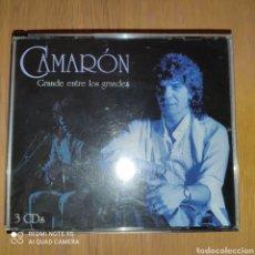 CDs de Música: CAMARÓN 3 CDS GRANDE ENTRE LOS GRANDES. Lote 246247175