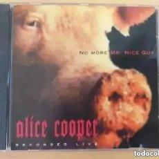 CDs de Música: ALICE COOPER - NO MORE MR NICE GUY RECORDED LIVE (CD). Lote 246312800