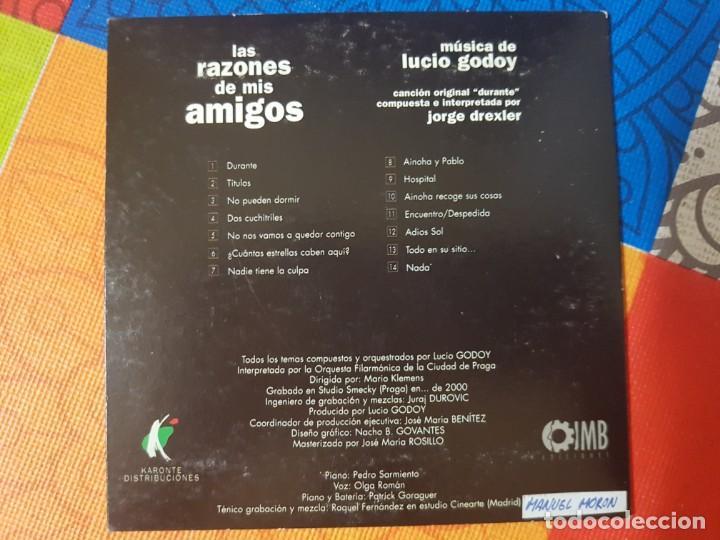 CDs de Música: BSO Original Las Razones de Mis Amigos (Tema Principal de Jorge Drexler).Lucio Godoy Cine Español - Foto 2 - 246350365