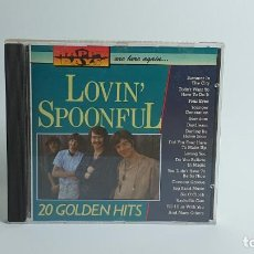 CDs de Música: CD - 1988 - LOVIN´ SPOONFUL - 20 GOLDEN HITS - 1 CD. Lote 246358730