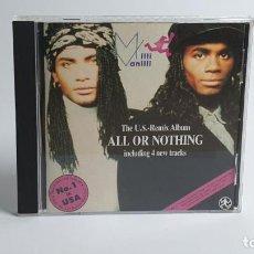 CDs de Música: CD - 1989 - MILLI VANILLI - THE U.S. REMIX ALBUM - 1 CD. Lote 246358735