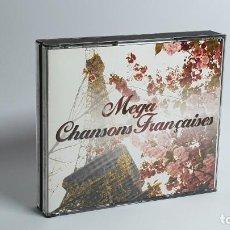 CDs de Música: CD - 2002 - VARIOS - MEGA CHANSONS FRANÇAISES - 4 CD´S. Lote 246358765