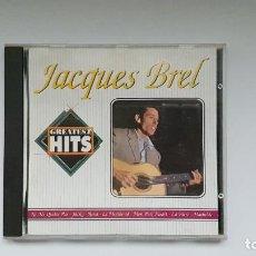 CDs de Música: CD - 1991 - JACQUES BREL - GREATEST HITS - 1 CD. Lote 246358770