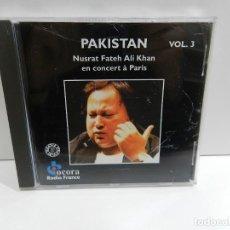 CDs de Música: DISCO CD. PAKISTAN: NUSRAT FATEH ALI KHAN EN CONCERT À PARIS VOL. 3. COMPACT DISC. Lote 246360910