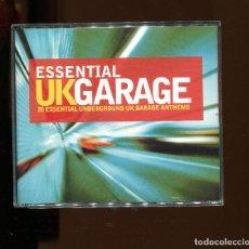 CDs de Música: ESSENTIAL UK GARAGE. 20 UNDERGROUND UK GARAGE ANTHEMS. DOBLE CD. 2 CD'S. BUENO. Lote 246503750