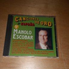 CDs de Música: CANCIONES DE ORO DE ESPAÑA. MANOLO ESCOBAR. VOLUMEN 1. Lote 246541710