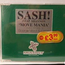 CDs de Música: SINGLE/ SASH! FEAT.SHANNON/ MOVE MANIA/ (REF.CD.SINGLE.2). Lote 246560710