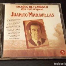 CDs de Música: JUANITO MARAVILLAS CD 50 AÑOS DE FLAMENCO 1935 - 1985 14 TEMAS. Lote 246568005