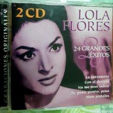 CDs de Música: MÚSICA GOYO - CD ALBUM - LOLA FLORES - 24 GRANDES ÉXITOS - DOBLE - RARO - AA97. Lote 246580975