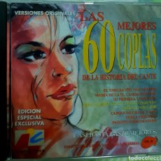 CDs de Música: MUSICA GOYO - CD ALBUM - LAS 60 MEJORES COPLAS DE LA HISTORIA DEL CANTE - VOL. 1 Y 2 - AA97. Lote 246582070