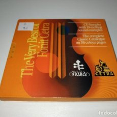 CDs de Música: 0321- THE VERY BEST OF FONIT CETRA & CATALOGUE 96 PAGES - CD - DISCO ESTADO BUENO. Lote 246641800