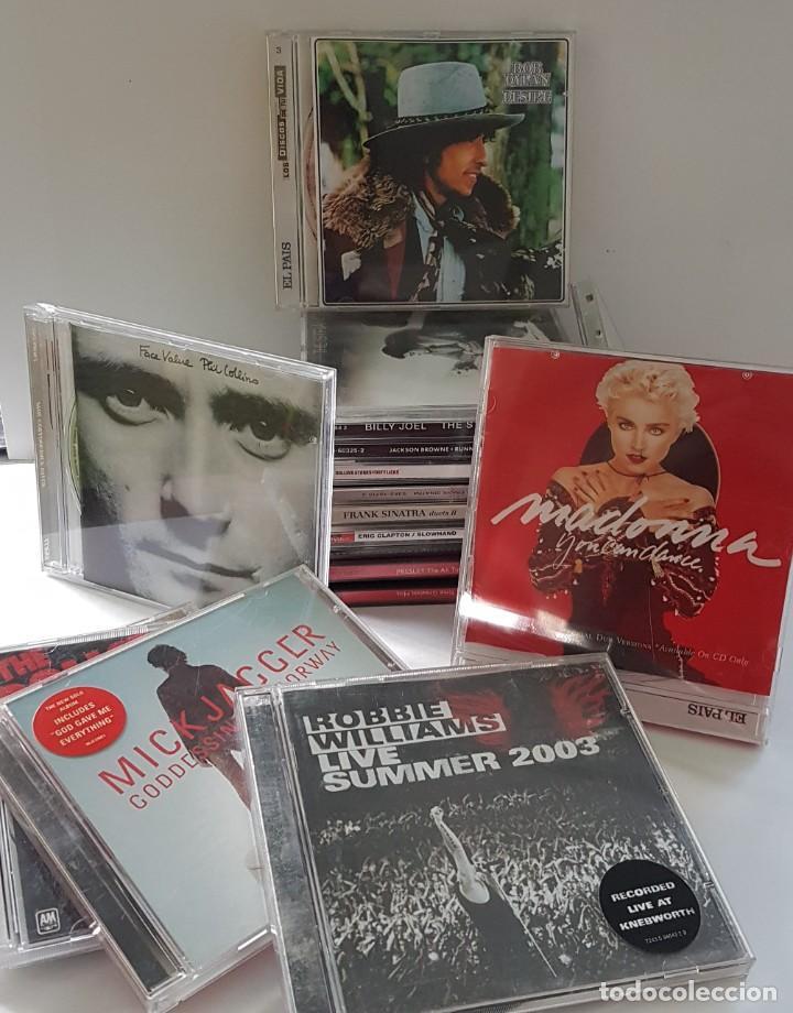 18 CDS DE MÚSICA DE LOS PRIMERÍSIMOS CANTANTES ; BOB DYLAN, ROLLINGS, MADONNA, PHIL COLLINS... (Música - CD's World Music)