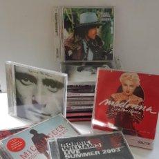CDs de Música: 18 CDS DE MÚSICA DE LOS PRIMERÍSIMOS CANTANTES ; BOB DYLAN, ROLLINGS, MADONNA, PHIL COLLINS.... Lote 246743455
