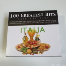CDs de Música: PACK DE 5 CDS DE MÚSICA ITALIANA, 100 GREATEST HITS, NUEVO SIN ESTRENAR PRECINTO ORIGINAL.. Lote 246888100