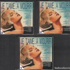 CD di Musica: JE T'AIME ...A MOURIR / CELINE DION, EDITH PIAF, FARIE LAFORET.../ 3 CD DE 1997 / RF-9278. Lote 246961350