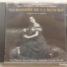 CDs de Música: CD EL HOMBRE DE LA MANCHA, NATI MISTRAL, MARCO A. SALDAÑA, CLAUDIO BROOK, 1995. Lote 247689850