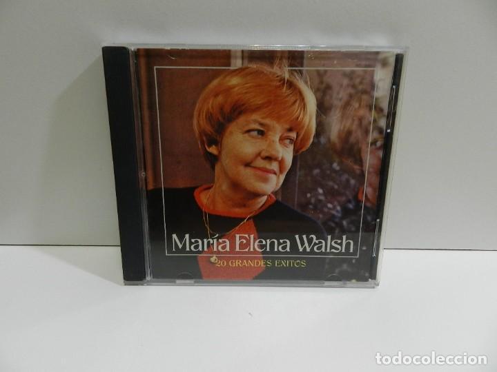 DISCO CD. MARÍA ELENA WALSH – 20 GRANDES ÉXITOS. COMPACT DISC. (Música - CD's Latina)