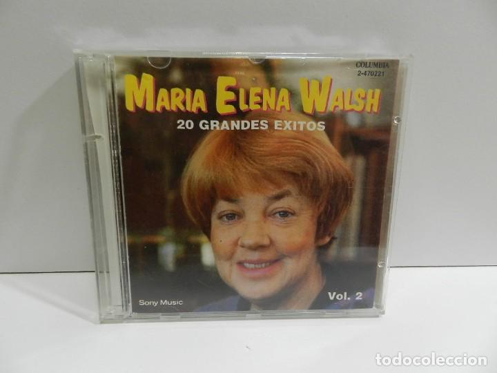 DISCO CD. MARÍA ELENA WALSH – 20 GRANDES EXITOS VOL. 2. COMPACT DISC. (Música - CD's Latina)