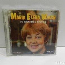 CDs de Musique: DISCO CD. MARÍA ELENA WALSH – 20 GRANDES EXITOS VOL. 2. COMPACT DISC.. Lote 247745280