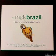 CDs de Música: SIMPLY BRAZIL / VARIOUS CAJA CON 4 CDS MÚSICA BRASILEÑA. Lote 247792645
