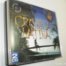CDs de Música: CD DOBLE CRÓNICAS LATINAS. 35 TEMAS. DRO 1999 SPAIN (BUEN ESTADO). Lote 247932950