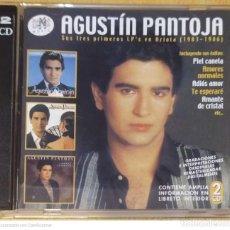 CDs de Música: AGUSTIN PANTOJA (SUS TRES PRIMEROS LP'S EN ARIOLA 1983-1986) 2 CD'S 2004 RAMALAMA. Lote 247943170
