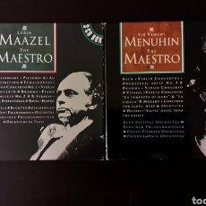 CDs de Música: 2 MUSIC BOX ( 3 CD CADA UNA) COLECCIÓN MÚSICA CDS LORIN MAAZEL - THE MAESTRO Y SIR YEHUDI MENUHIN. Lote 248003915
