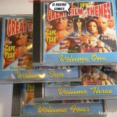 CDs de Musique: GREAT FILM THEMES, 4 CD, VOL 1 2 3 Y 4, VER DESCRIPCIÓN, TEMAS DE PELÍCULAS, BSO, B S O. Lote 248075840