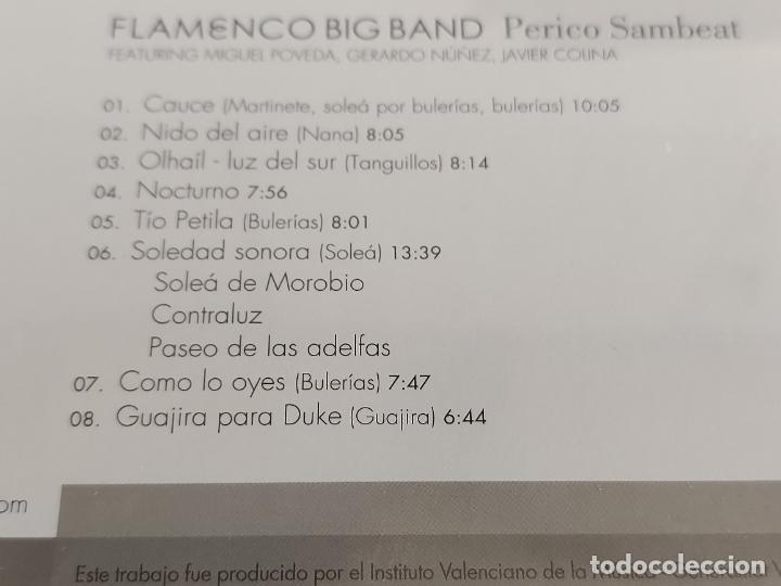 CDs de Música: PERICO SAMBEAT / FLAMENCO BIG BAND / DIGIPACK-CD - VERVE RECORDS-2008 / 8 TEMAS / PRECINTADO. - Foto 3 - 248204925