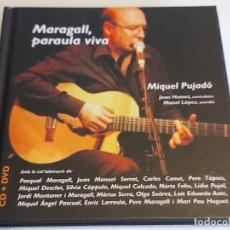 CDs de Música: MIQUEL PUJADÓ / MARAGALL, PARAULA VIVA / COLABORACIONES DIVERSAS / LIBRO CD+DVD / IMPECABLE.. Lote 248727310