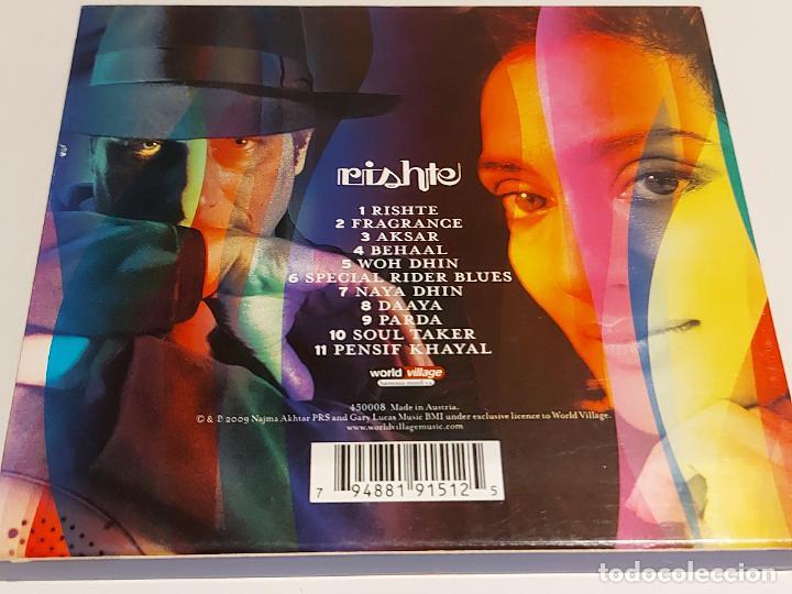 CDs de Música: NAJMA AKHTAR-GARY LUCAS / RISHTE / ESTUCHE-CD - HARMONIA MUNDI-2009 / IMPECABLE. - Foto 2 - 248807405