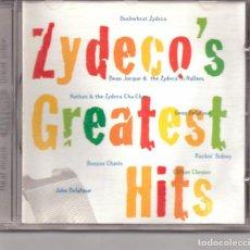 CDs de Música: ZYDECO´S GREATEST HITS. CAJÚN. VV.AA. JOHN DELAFOSE, ETC. LUISIANA (USA).. Lote 248809950
