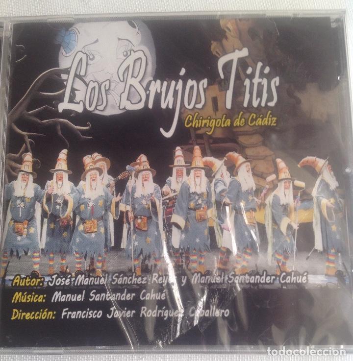 CDs de Música: LOS BRUJOS TITIS, CHIRIGOTA DEL CARNAVAL DE CADIZ,, CD PRECINTADO. - Foto 2 - 248965645