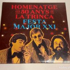 CDs de Música: HOMENATGE ALS 50 ANYS DE LA TRINCA / FESTA MAJOR XXI / CD-2019 / 13 TEMAS / IMPECABLE.. Lote 249040485
