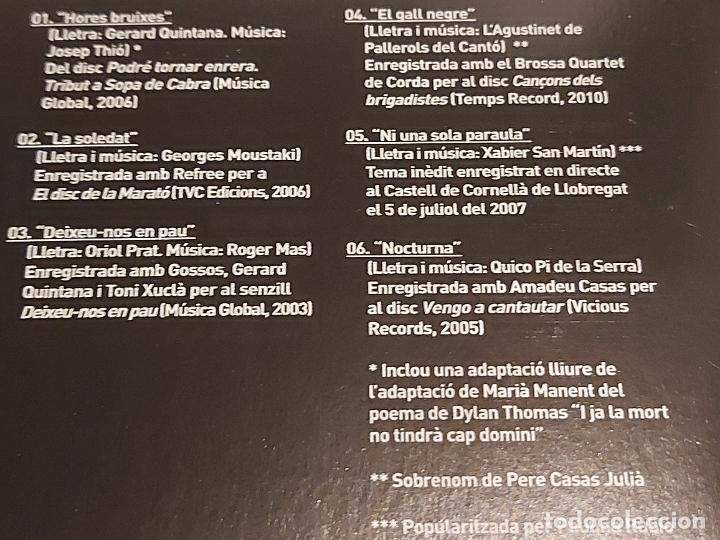 CDs de Música: ROGER MAS / CANÇONS ESTRANYES / CD - EDR-2010 / 6 TEMAS / IMPECABLE. - Foto 3 - 249270340