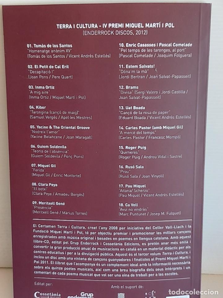 CDs de Música: TERRA I CULTURA / IV PREMI MIQUEL MARTÍ I POL / LIBRO+CD / ED: COSSETANIA-2012 / NUEVO. - Foto 4 - 249319470