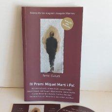 CDs de Música: TERRA I CULTURA / IV PREMI MIQUEL MARTÍ I POL / LIBRO+CD / ED: COSSETANIA-2012 / NUEVO.. Lote 249319470
