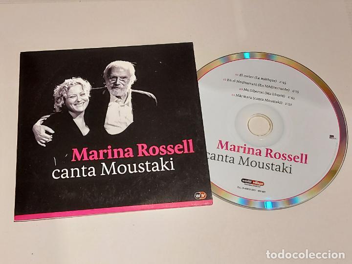 MARINA ROSSELL CANTA MOUSTAKI / CD-PROMO-2011 / 4 TEMAS / IMPECABLE. (Música - CD's Melódica )