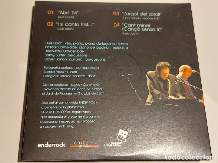 CDs de Música: LLUÍS LLACH I PASCAL COMELADE / ABRIL 04 / EN DIRECTE AL TEATRE JARDÍ DE FIGUERES / IMPECABLE. - Foto 3 - 249362865