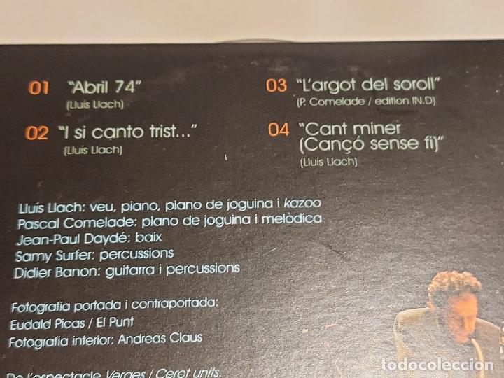 CDs de Música: LLUÍS LLACH I PASCAL COMELADE / ABRIL 04 / EN DIRECTE AL TEATRE JARDÍ DE FIGUERES / IMPECABLE. - Foto 4 - 249362865